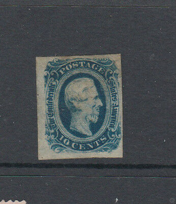 A very nice old 10 Cents Blue Confederate States issue