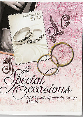 Australia 2010 Special Occasions Wedding Rings $12.00 Booklet Sg.sb360