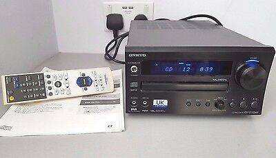 ONKYO CR-715DAB UK EDITION CD/RECEIVER/DAB Hi-Fi System with manual & Remote