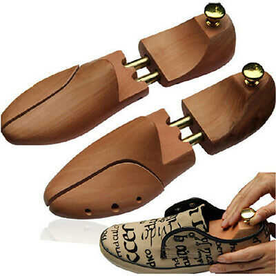 1 Pair Unisex Cedar Wood Shoe Trees Wooden Leather Shoes Shaping Shaper Model