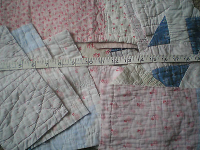 A Mixed Lot Of 22 Antique Quilt Pieces.