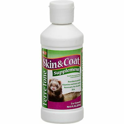 8 in 1 Ferret FerreTone Ferret Tone Skin & Coat Supplement - 8 oz