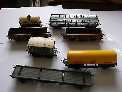 Model Railway oo scale trucks and wagons job lot for spares or repair