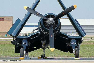 Giant Scale F4U-1D Corsair (Folding Wings) Plans and Templates