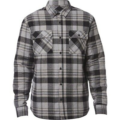 Fox Racing Glamper Mens Sherpa Button Up Flannel Black