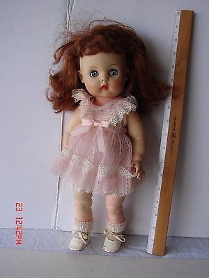 Vintage Vinyl Head & Body Horseman Doll Red Reddish Hair Sleep Eyes 15 Inches
