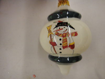 H ) Geron painted inside glass- highly collectible Christmas ornament