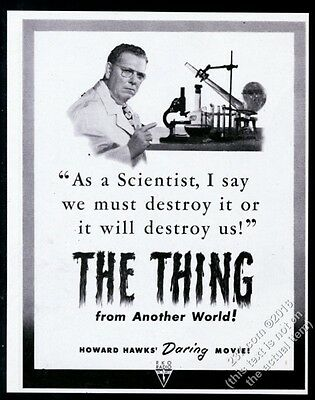 1951 The Thing From Another World movie release vintage print ad
