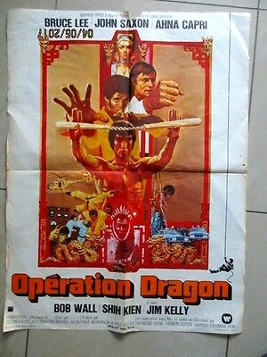 "2 Affiches Cinema "" Bruce Lee "" La Fureur De Vaincre Et Operation Dragon"