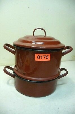 Nr. 0175.  Alter Emaille Topf  Emailtopf Old Enamelware Pot