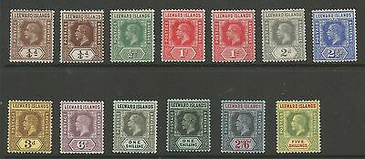 LEEWARD IS SG46-57b THE 1912-22 GV SET OF 12+SHADE MOUNTED MINT CAT £110+