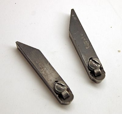 Pair of Round Right & Left Positive Rake Carbide Bit Holders for Brake Lathe C