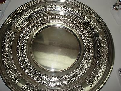 "Sterling Silver Antique Reticulated Serving Platter 11"" Diameter"