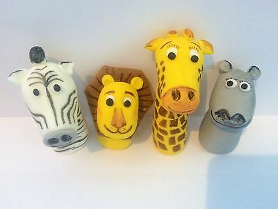 Edible In The Style Of Madagascar Heads Lion Cake Topper Decoration