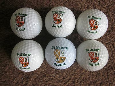 6 St Andrews Logo Golf Balls