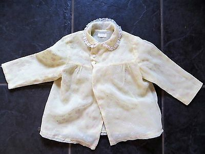 LEMON FLOCK NYLON BABY JACKET, IN GOOD VINTAGE 1960s CONDITION