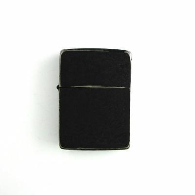 WWII Vintage US Military / Army Black Crackle Steel Case 4 Barrel Zippo Lighter