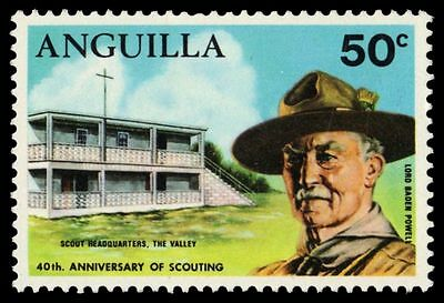 "ANGUILLA 98 (SG83) - Boy Scouts ""Lord Baden Powell"" (pa51098)"