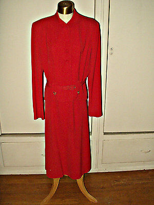 Martha Gale Designer Suit For Cartwright Vintage 1930's 1940's Tangerie Rayon