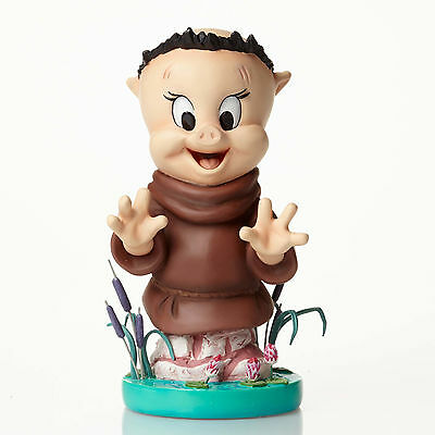 Enesco Grand Jester Studios Disney Looney Tunes Porky Pig as Friar Tuck Bust New