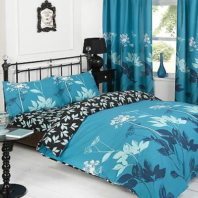 Duvet Quilt Cover with Pillowcases Bedding Set Size King Design SOPHIE TEAL