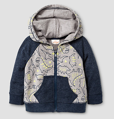 Baby Boy Dinosaur Hooded Jacket NWT Size  6-9 Months Cat & Jack
