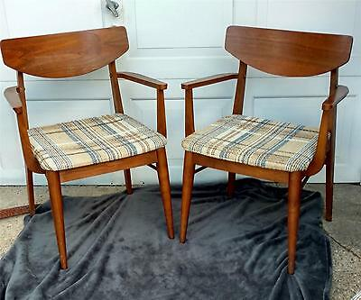 Mid Century Modern Danish Walnut Set Of 3 Chairs Nice Cond. Many Uses