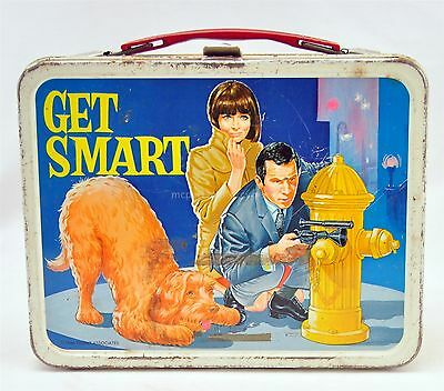 Vintage Steel Get Smart Lunch Box with Maxwell Smart Agent 86, Agent 99 1966