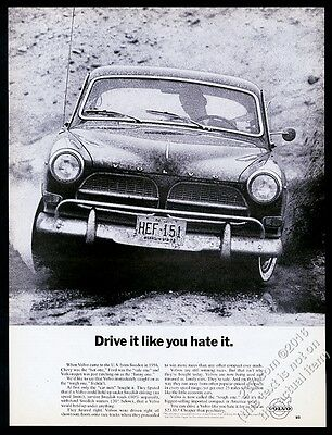 1963 Volvo 122 car photo Drive It Like You Hate It vintage print ad