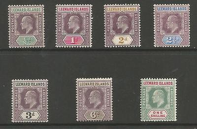 Leeward Is Sg29-37 The 1905 Chalk Surfaced Paper Set Of 7 Mounted Mint Cat £200