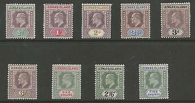 Leeward Is Sg20-28 The 1902 Evii Set Of 9 Mounted Mint Cat £120