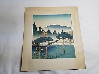 Antique Vintage Classic Japanese Color Woodblock Print (4 of 6)