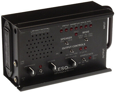 Whirlwind AESQbox Portable AES Digital Audio Signal Tester Monitor Speaker Amp