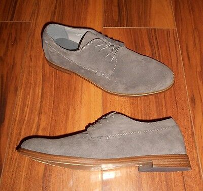 New Look Mens Stylish New Formal Lace Up Grey Brogue Shoes: Uk Size 11 (45)
