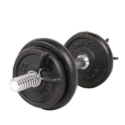 2Pcs 25mm Barbell Gym Weight Bar Dumbbell Lock Clamp Spring Collar Clips  q