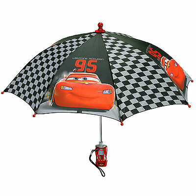Disney Cars Printed Kids Rain Umbrella Molded Lightning McQueen Handle