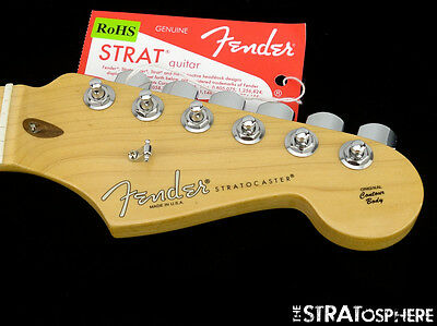 American Fender Deluxe PLUS Strat NECK LOCKING TUNERS Stratocaster USA Maple