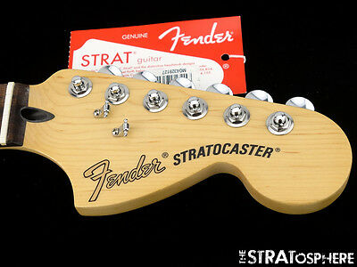 """Fender Deluxe Series Stratocaster NECK+ LOCKING TUNERS Strat 12"""", 6105 Rosewood"""