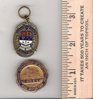 P21) Toronto - CNE 1927 Chorus tag, Royal Winter Fair (Ont Dept of Agriculture)