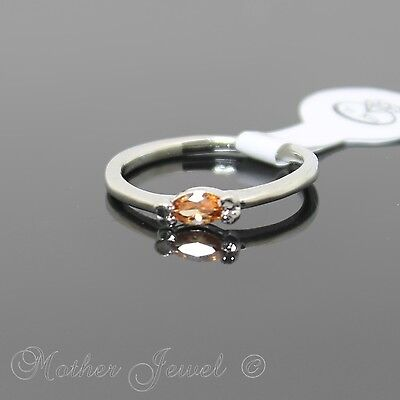 Bday Gift Marquise Cut Amber Cz Silver Sp Womens Girls Dress Ring Size 6 Small