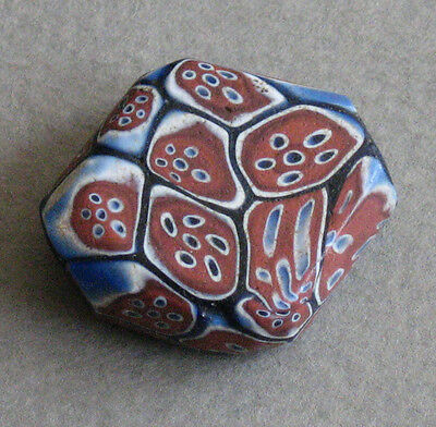 Venetian Glass Trade Beads Tabular Millefiori Watermelon Cane Large