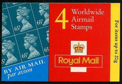Great Britain 2000 £2.60 Airmail booklet SG# GT1 NH