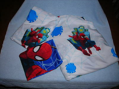 Marvel Ultimate Spiderman Twin Sheet Set - Fitted, Flat, and Pillowcase