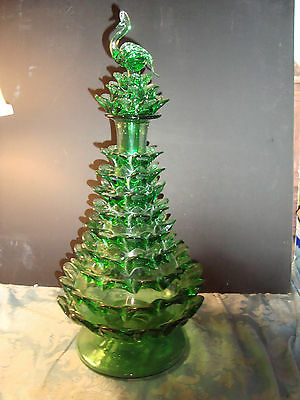 Vtg Striking Partridge In A Xmas Pear Tree Decanter