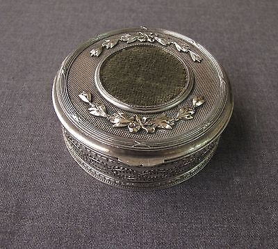 Antique Early 1900 Silver Plated Ribbons In Bow Orivit Jewelry Box Germany