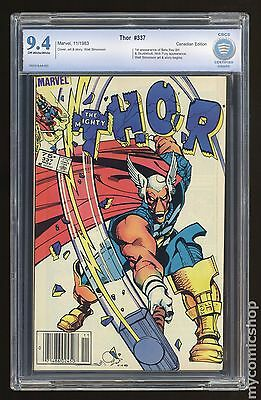 Thor (1962-1996 1st Series) Canadian Price Variant #337 CBCS 9.4