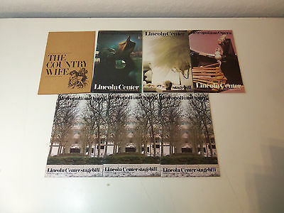 1980's Lot 7 THEATRE PROGRAMS Lincoln Center Stagebills Metropolitan Opera