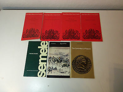 1970's Lot 7 THEATRE PROGRAMS Sadler's Wells Opera & Royal Opera House ENGLAND