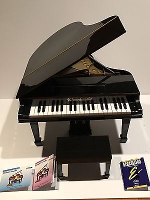 American Girl Doll Baby Grand Piano Black Plays 3 Songs Works Retired