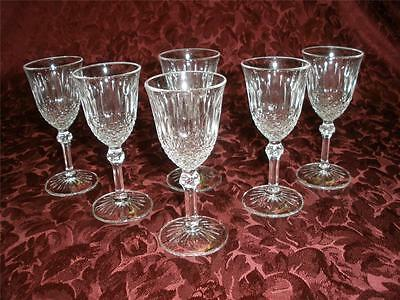 Retro Fine Glass Liqueur Glasses X 6 Regency Made In Italyboxed